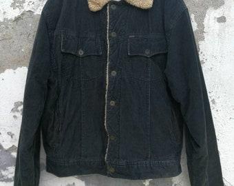 Vintage Scotch & Soda lined Corduroy jacket padded cord jacket 80s 90s size M/L