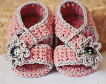 Crochet PATTERN  - Diagonal Strap Sandals