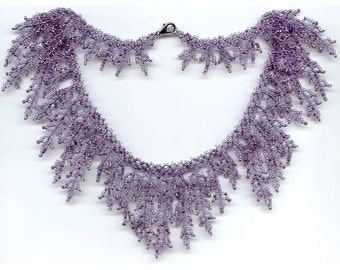 Pattern seed beaded necklace beading patterns necklace instructions beading netting stitch tutorials patterns unique beads design necklace