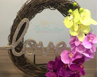 18 in Ombrè Orchid Love Spring Wreath