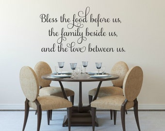 Bless The Food Before Us Decal Kitchen Wall Prayer