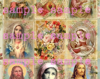 Holy Cards Instant Digital Download Antique Holy Religious Prayer Card Printable Religious Collage Sheet Victorian Floral Prayer Cards