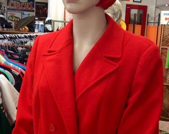 1970s Dereta London red coat UK 10-12