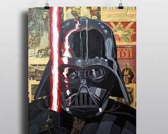 Darth Vader Star Wars Acrylic Painting SIGNED Fine Art Print