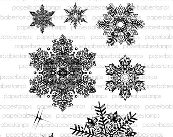 Peaceful Flurries - Paperbabe Stamps - Clear Photopolymer Stamps - For paper crafting and scrapbooking.
