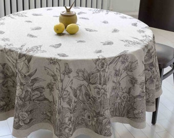 Circular Tablecloth - Linen Cotton Blend