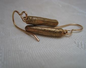 Rustic Bronze Rod Earrings - Bronze Earrings - Rustic Earrings