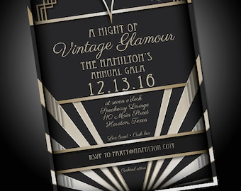 Speakeasy Invitations Etsy - 1920s party invitation template