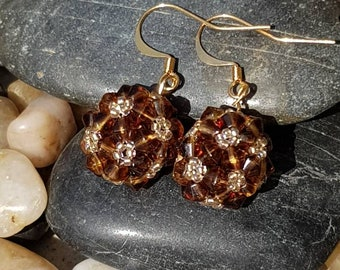 Beaded Ball drop earrings