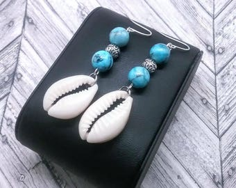 Cowrie Shells and Turquoise