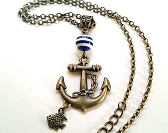 Nautical Necklace Anchor Ocean Sea
