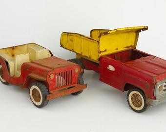 1960s Tonka Willys & Dump Truck