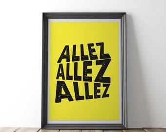 ALLEZ Cycling Print (Yellow) - Inspired by Tour de France