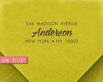 CUSTOM pre inked address STAMP from USA, custom address stamp, pre inked custom address stamp, return address stamp with proof - Stamp b5-3
