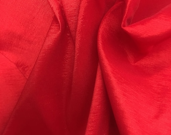 Red Stretch Tafetta Fabric by the Yard