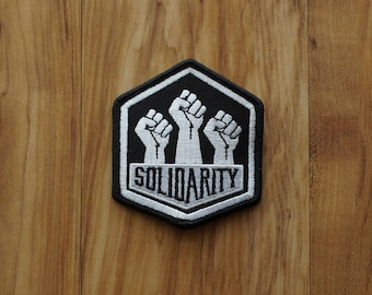 Solidarity Political Embroidered Patch Resist patch