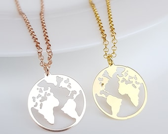 World map necklace etsy gumiabroncs Gallery
