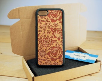 Rose Full Protection - Personalize  Wood iPhone case Wood iPhone 7 Case iPhone 6S Case wood iphone 6 case