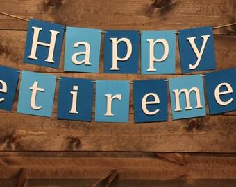 Happy Retirement Bannner | Happy Retirement Decor | Retirement Banner | Retirement Party