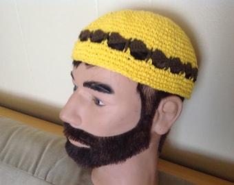 Hat crochet beret Yama yarmulka cap Kufi beanie