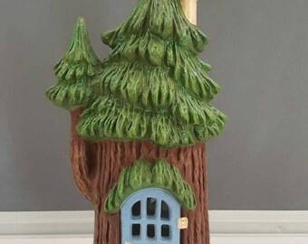 Ceramic Fairy House - Fairy Dwelling - Fairy Garden House - Ceramic House - Garden Ornament - Gnome Home - Gnome Dwelling - Fairy Garden