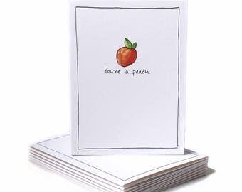 You're A Peach Thank You Greeting Card