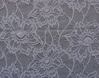 Large Floral Stretch Allover Lace