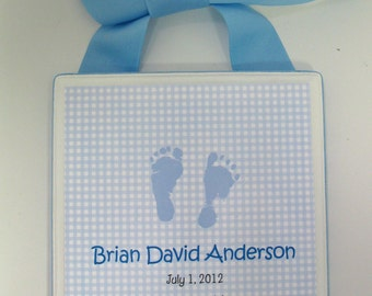 Boy Birth Announcement Keepsake Plaque