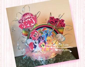 My Little Pony Birthday Cake Topper