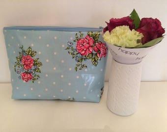 Toilet bag fabric waterproof framework8 flower design