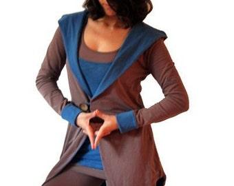 Futuristic Clothing, Workout Hoodie, Womens Yoga Top, Plus Size Hoodie, Organic Cotton Hoodie, Yoga Clothes, Loose Sweatshirt, Yoga Hoodie