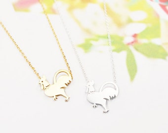 Rooster Necklace, Chicken Necklace