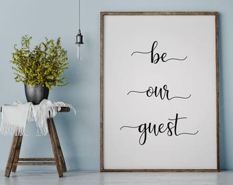 Be Our Guest Sign | Guest Room Decor | Beauty and the Beast | Guest Bedroom |  Wall Art |