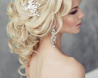 Wedding earring, Drop Dangle Earring, Wedding Earring, Vintage Long Earring, Bridal Earring, Chandelier Earring