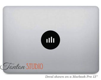 Volume Equalizer Macbook Decal - Music Volume Icon Macbook Sticker - Laptop Notebook Macbook Air Pro - Removable - T017