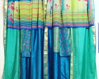 Boho Gypsy Sari Curtains // Boho Decor // Upcylced