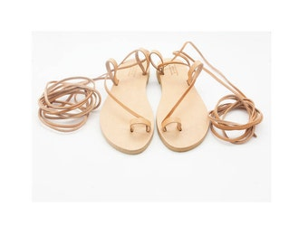 Greek gladiator sandals, Lace up womens summer shoes