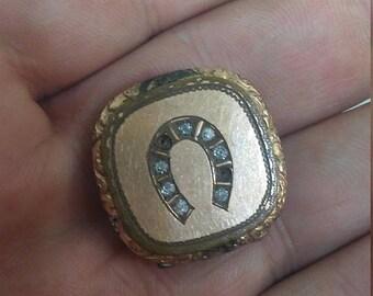 Spring Sale Antique Gold Filled Good Luck Locket
