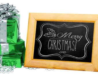 Christmas Chalkboard Sign - DIY - PRINTABLE - Merry Christmas! - Instant Download, Print, Party - Paper Props Chalk Board signs - Xmas