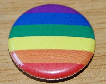 Gay Pride Rainbow Flag Button Badge 25mm / 1 inch LGBT