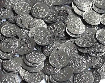 50 Metallic dark grey currency shape sequins/KBRS050