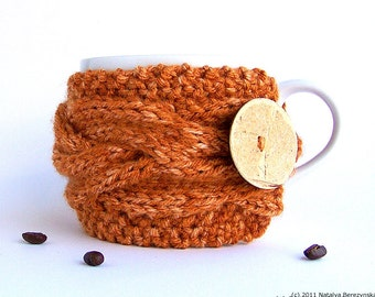 Pumpkin Coffee Mug Cozy, Coffee Cozy, Tea Cozy, Gifts Under 20 Coffee Cup Cozy Coffee Cup Sleeve Coffee Mug Cozy Coffee Sleeve Pumpkin Decor