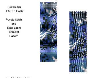 Peyote Stitch Bracelet Beadweaving Pattern 22 - For Size 8/0 Seed Beads - Miyuki Seed Bead Bracelet Pattern, Bead Loom Pattern