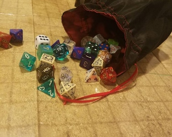 Red and Black dice bag
