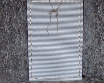 SET Custom Order: 24x36 Large Pin Board - French Ticking - Pushpin Set