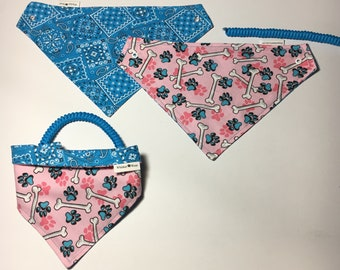 everyday wear, reversible dog scarf, dog bandana, pet scarf, pet bandana, pet attire, pet clothing,summer, reversible, everday wear, bones