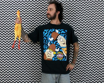 90s Flinstones T Shirt. Retro 90s Fred Flinstone And Barney Loyal Order Of The Water Buffalo Cartoon 90s Hip Hop Shirt. 1990 Flinstones