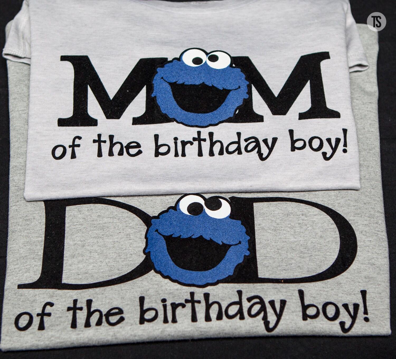 Sesame Street Birthday shirts Cookie Monster Birthday Shirt