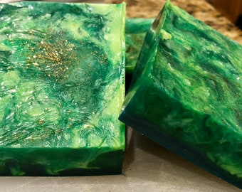 Malachite Organic Goat Milk Soap Bar Handmade Natural