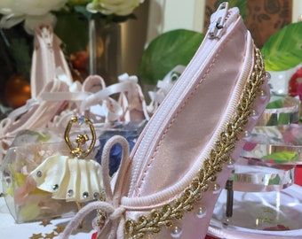 Hand-decor Mini Pointe Shoe Purse